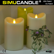 Parties Simulated Moving Flame Led Candle, with USA and EU Patent