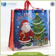 Customized santa bag factory price shopping bag non woven fabric bag