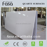 SGS certified fine grain pure color quartz stone
