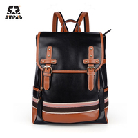 High Quality Pu Leather Backpack School Bags For Teenagers Girl Women Vintage College Style