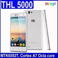 "Original THL 5000 Cell Phones MTK6592 Octa Core Android 4.4 5"" IPS 1920x1080 16GB RAM 5000mAh 13.0MP Camera NFC OTG GPS WCDMA"