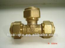 Male brass tee copper fittings