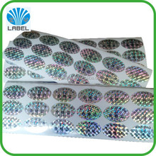 China custom made anti-counterfeight 3D laser hologram sticker