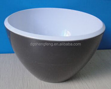 Two Tone Black Melamine Cereal Noodle All Purpose Bowl