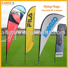 Easy Mobile Portable Outdoor Feather Banner Beach Flag for Sport Events, Promotion and Exhibition Display