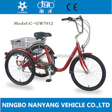 GW7012-6s three wheel adult tricycle hot selling/Cheap cargo bike