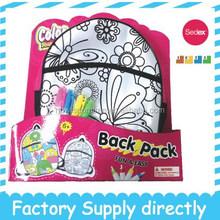 New Multi functional DIY Drawing Fashion Kids/Children Custom Backpack