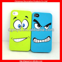 Funny face silicone cell phone cases for Iphone 4 (MYD-1543)