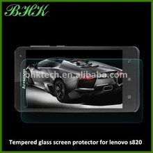 phone acessories delicate touch tempered glass screen protector for lenovo s820 , ANTI-FINGERPRINT screen protector