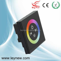 2015 Leynew new design 0-12V 12-24V RGB led touch panel controller and dimmer good control strip lights TM08E