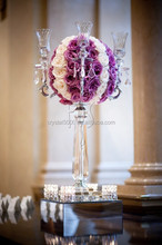 bling and Popular Crystal glass candle holder stem for decoration
