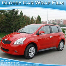 New Product Red Glossy Car Sticker /Car Wrapping Vinyl/Glossy Red Car Wrapping Vinyl Air Free 1.52x30M