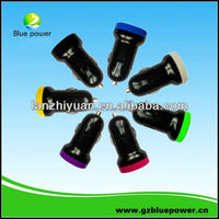 2013 Hot Selling Wireless Colorful mini usb car charger mot v3 for iphone 5 for samsung USB Car Charger Adapter