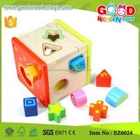 Wisdom Wooden Shape Sorting Box N Shape Sorter Cube Kids Fun Wooden Toys