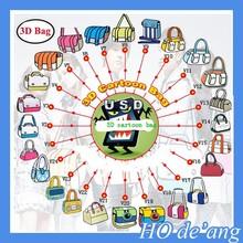HOGIFT wholesale 22 style 3d cartoon bag ,cheap 2d cartoon women shoulder bag