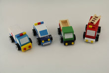 Wooden ambulance toy,wooden police toy, wooden toy trucks and cars