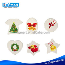 Personalized sublimation blank christmas ornaments of cheap price