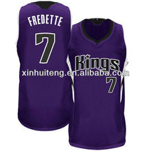 v neck purple high quality 100% polyester custom wholesale high school basketball jerseys