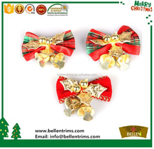 2015 Christmas Ornament Bows with Bells for Tree