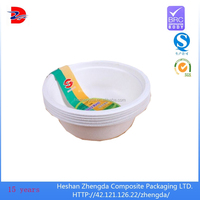 paperboard water proof food grade paper bowls microwave for food