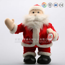 Factory Custom 2016 Christmas Decoration Santa Claus with plush material and stuffing