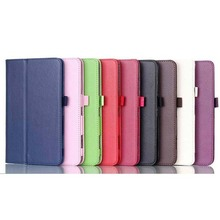Lychee Leather Case For Samsung Galaxy Tab4 7.0 T230 With Pen Holder
