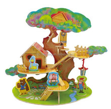 Forest Cabin Series Tree House DIY 3D Wood House Jigsaw Puzzle