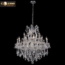 Popular Classic Candle Chandelier Maria Theresa Crystal Chandeliers LED Glass Pendant Light for Restaurant Decoration CZ6001/19