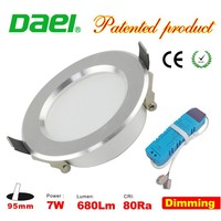 2015 new products dimmable 680lm 7W LED downlights 3 inch with Economic slim body CE&ROHS in china