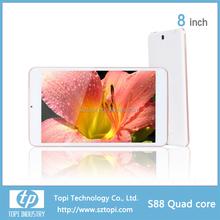 4000mah battery 8 inch IPS screen quad core tablet pc