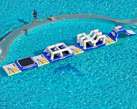inflatable floating island, floating water games for sale