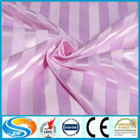 100% cotton satin strip bed set fabric for bed sheets in roll