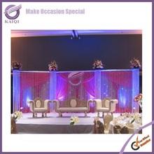 K4232 Romantic handmade crystal bead curtain for wedding decoration