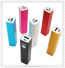High quality gifts custom logo power bank 2600mAh for iphone camera portable emergency mobile phone charger
