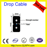 Manufacturing FTTH indoor fiber optic cable GJXCH 2 core steel wire drop cable