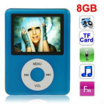 1.8 inch TFT Screen 8GB MP4 Player with TF Card Slot, Support Recorder, FM Radio, E-Book and Calendar