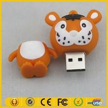 Lovely Orange USB Flash Drive Tiger Shape