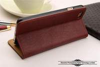 New Genuine Leather Wallet Case Cell Phone Flip Cover for iphone 6