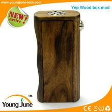 Newest hot sales mechanical box Yep box mod,box mod vape Yep wooden box