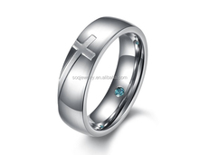 wholesale high quality rings cross men china factory 316l stainless steel jewelry