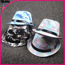New design children's hat Camouflage pattern navy Children's jazz cap hat