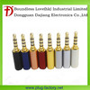 Alibaba express 2.5mm gold plated 4 pole earphone plug for mobile phone