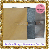 Genuine leather soft cover planner with key ring binder