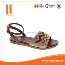 Most fashion china brand lady sandal casual shoes