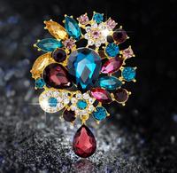 Fashion Jewelry 2015 Rhinestone Brooch in Zinc Alloy