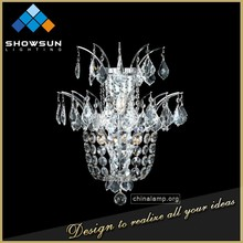 Showsun wedding decoration glass crystal decoration wall sconce