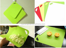 colourful anti slip flexible cutting board/factory direct folding cutting mat set 4pcs/low price index plastic cutting boards