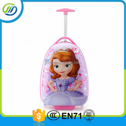 Cute kids trolley travel bag with fashion pattern