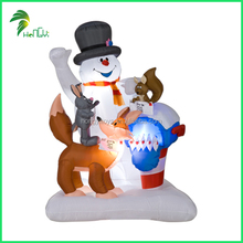 Factory Supply Lovely Christmas Decorative Inflatable Air Snowman LED Outdoor