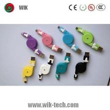Multi optionalen farb- retractable usb-datenkabel shenzhen fabrik liefern